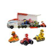 ست اسباب بازی سگهای نگهبان طرح کامیون مدل 7113A بسته 15 عددی