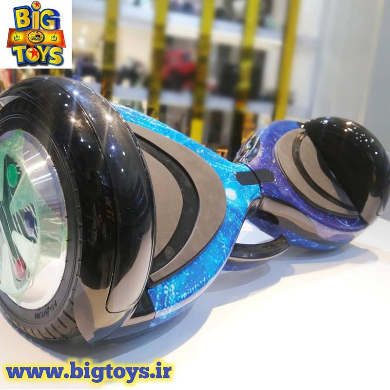 اسمارت اسکوتر برقی(اسکوتر شارژی) آبی کهکشانی 8 اینچ SMART BALANCE WHEEL